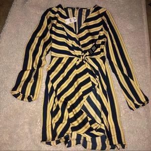 Express Dresses - BOGO NWT Striped V-Neck Elastic Waist Mini Dress